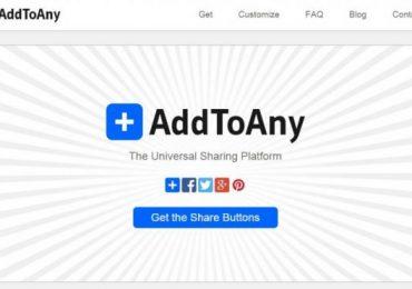 Top 5 website social sharing buttons