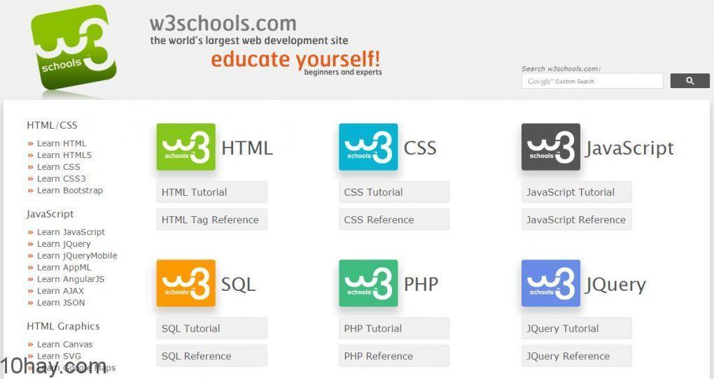học phát triển web