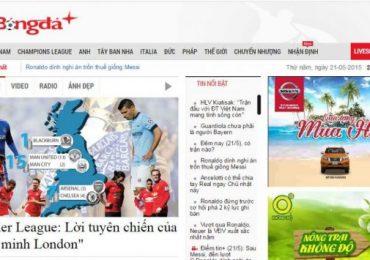 Top 10 website bóng đá nổi tiếng nhất Việt Nam