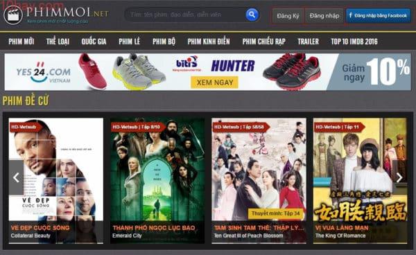 Phimmoi.net là trang xem phim nổi tiếng nhất Việt Nam