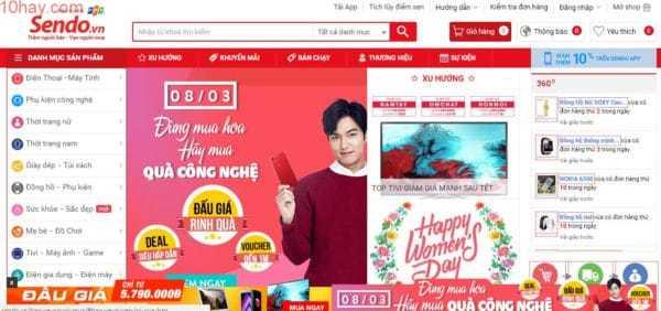 Sendo trang mua sắm uy tín hàng đầu Việt Nam