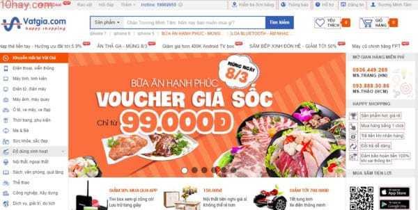 Vật giá trang thương mại điện tử hàng đầu Việt Nam