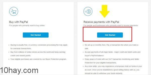 Hướng dẫn tạo tài khoản Paypal