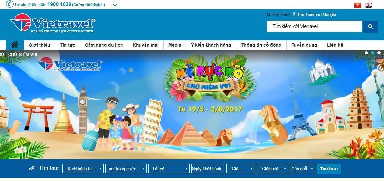 Trang đặt tour du lịch lớn nhất Việt Nam Vietravel.com