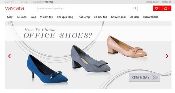 Vascara trang mua sắm giày dép, túi xách và phụ kiện thời trang