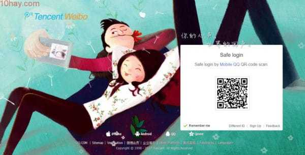 Tencent Weibo là một mạng xã hội kết nối tất cả người dùng với nhau