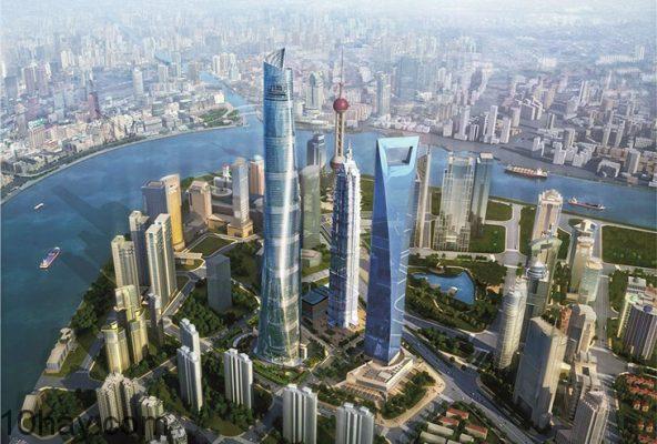 Shanghai Tower (632m,Thượng Hải, China)