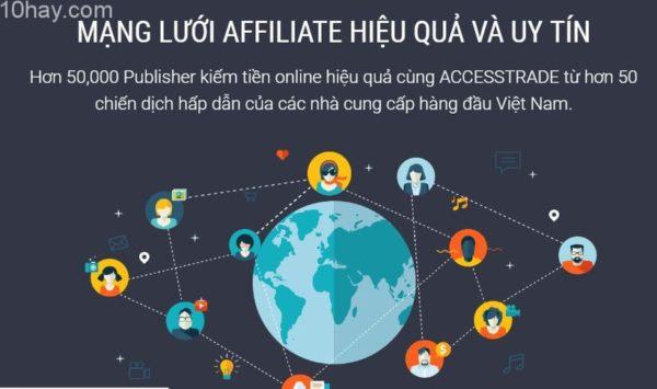 Mạng tiếp thi liên kết uy tín nhất Việt Nam