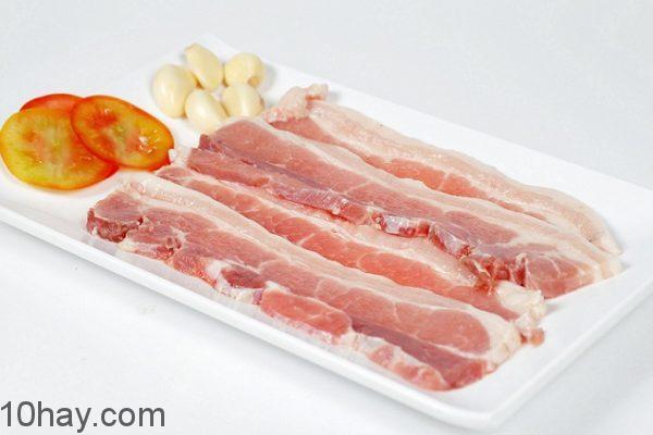 3 Chọn thịt lợn