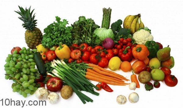 Chọn rau củ quả