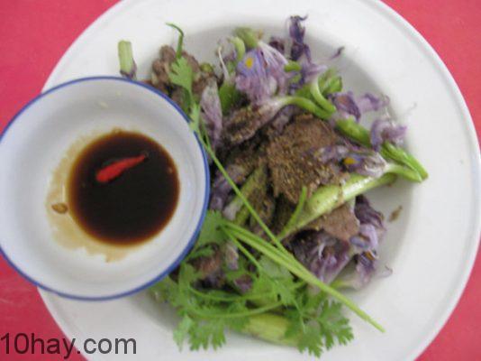 Hoa lục bình xào thịt bò