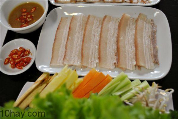 banh-cuon-thit-heo món ngon cuốn bánh tráng