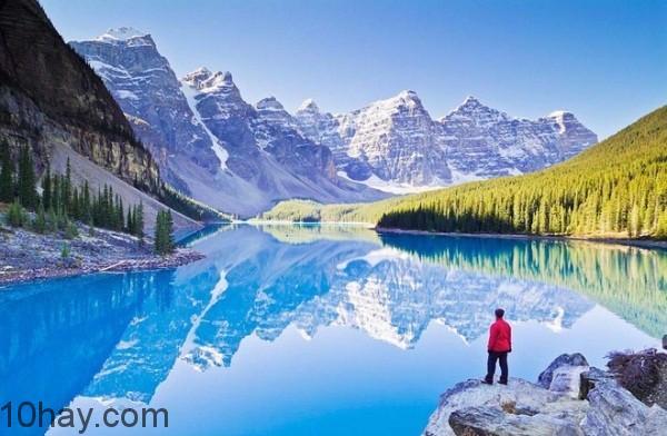 đường chạy từ Jasper đến hồ Louise, Canada