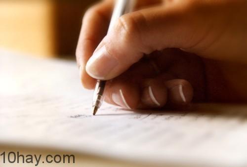 Ghi những ý chính ra giấy
