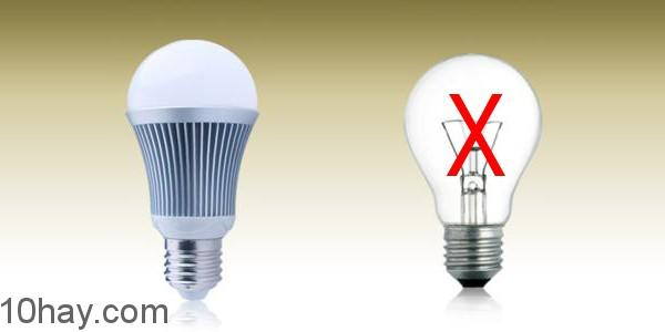 Thay đèn sợi đốt bằng đèn compact