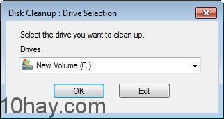Chạy chương trình dọn dẹp ổ cứng