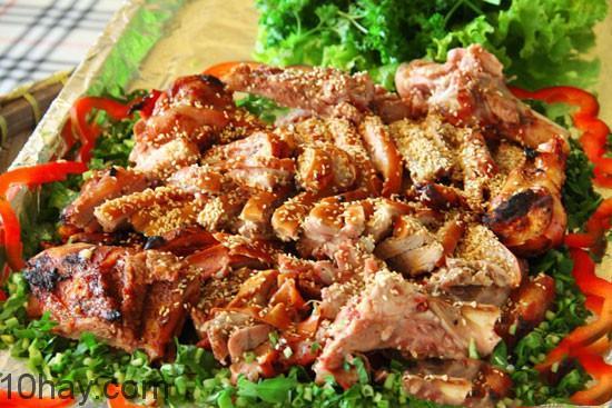 Thịt lợn nướng
