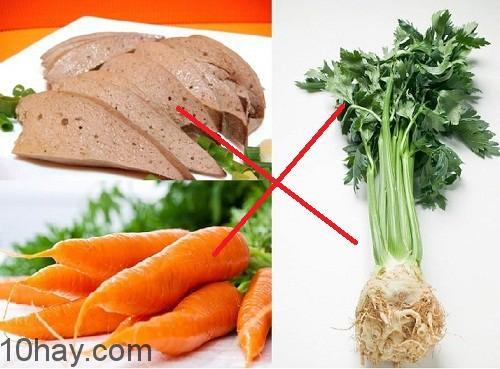 Rau cần và cà rốt