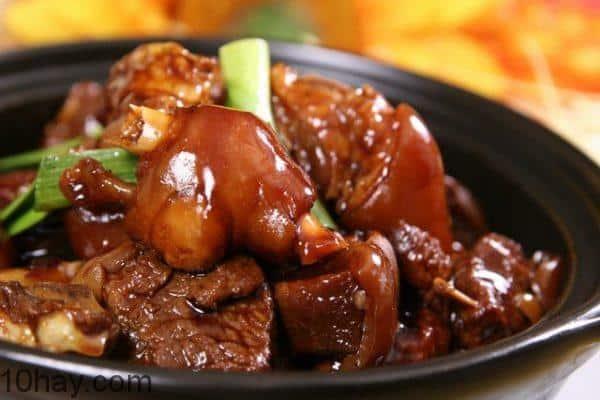 Thịt heo giả cầy món thịt lợn kho ngon