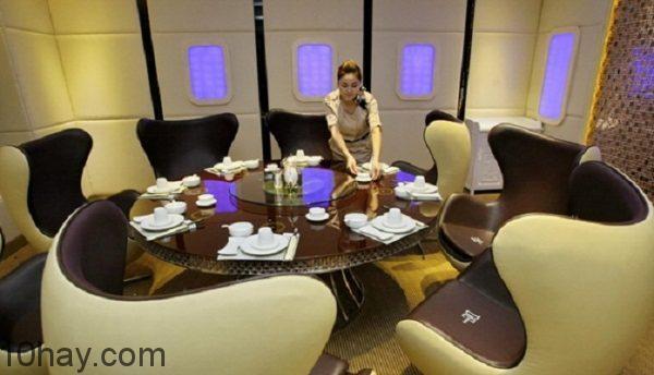 Thiết kế nhà hàng giống chiếc máy bay Airbus 380