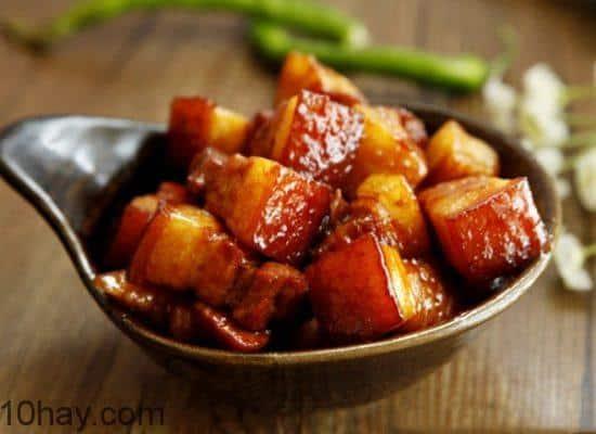 thịt kho nghệ món thịt lợn kho ngon