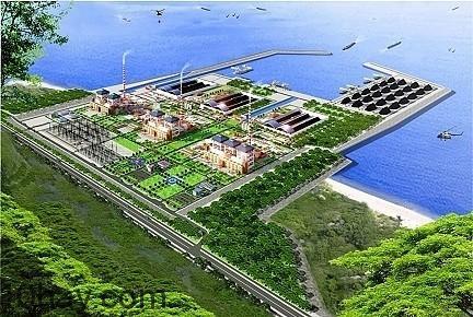Mô hình dự án trung tâm nhiệt điện Vĩnh Tân