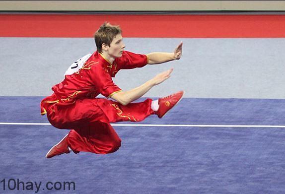 Một thế võ trong Wushu