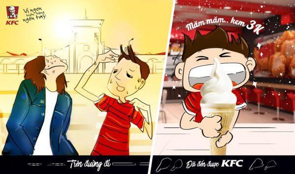 Quảng cáo kem 3k - KFC