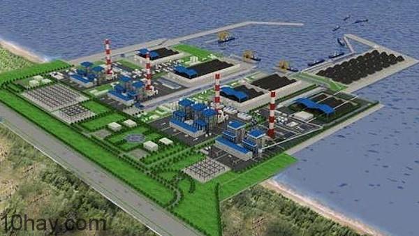 Toàn cảnh trung tâm nhiệt điện Duyên Hải