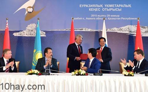 Việt Nam chính thức ký FTA với EAEU