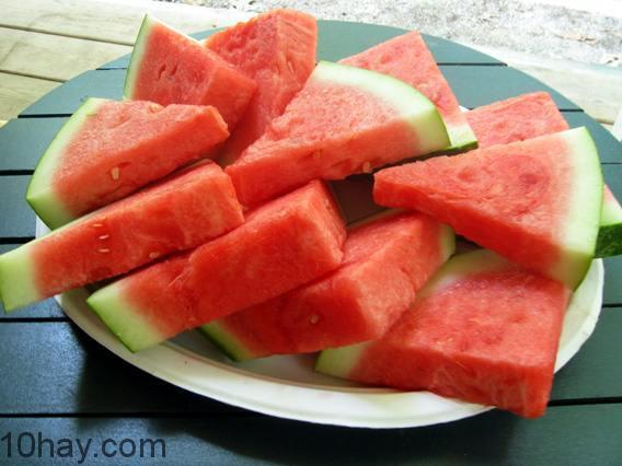 Dưa hâu-thực phẩm nhiều vitamin C