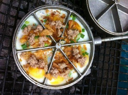 bánh trứng cút nướng