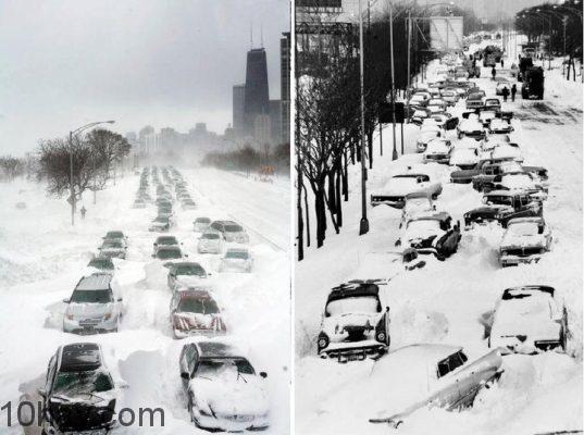 Bão tuyết 1967 - miền Trung Tây nước Mỹ