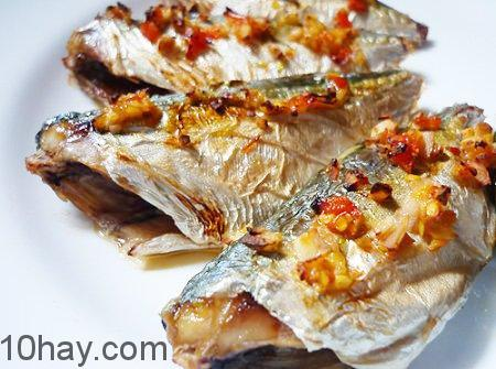 Món cá bạc má nướng tỏi ớt ngon ơi là ngon
