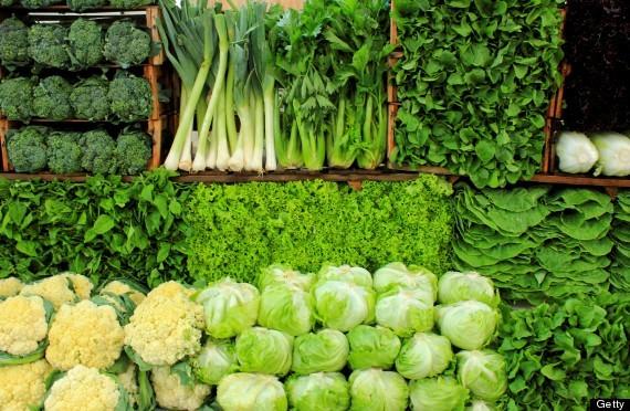 Các loại rau lá xanh