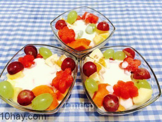 Hoa quả dầm mát lạnh