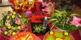 Mâm quả trong lễ cưới truyền thống Việt nam