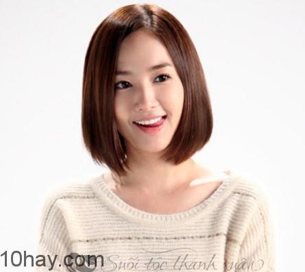 Kiểu tóc ngắn đẹp cho khuôn mặt chữ điền