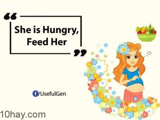 Cô ấy rất thèm ăn