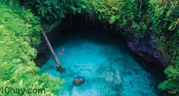 bể bơi tự nhiên