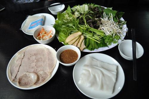 Bánh tráng heo cuốn thịt Đà Nẵng
