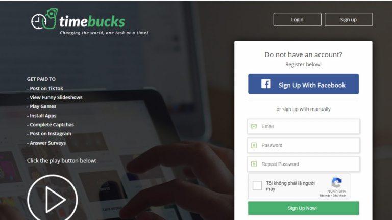 Khảo sát kiếm tiền với TimeBucks