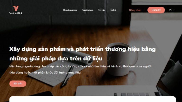 Khảo sát kiếm tiền với Voice Pick