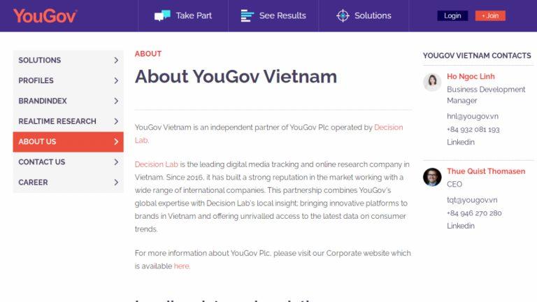 Khảo sát kiếm tiền với YouGov