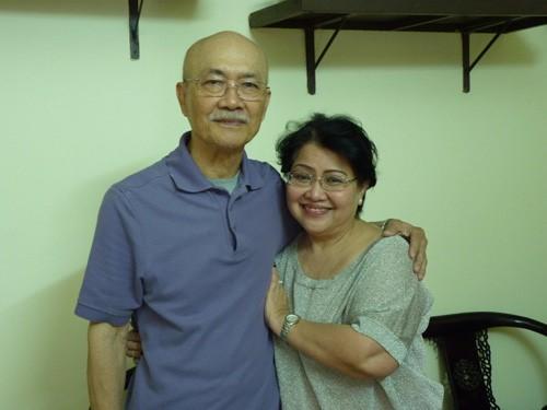 Vợ chồng nghệ sĩ Diệp Lang và Thu Phong