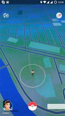 Giao dien Pokemon GO