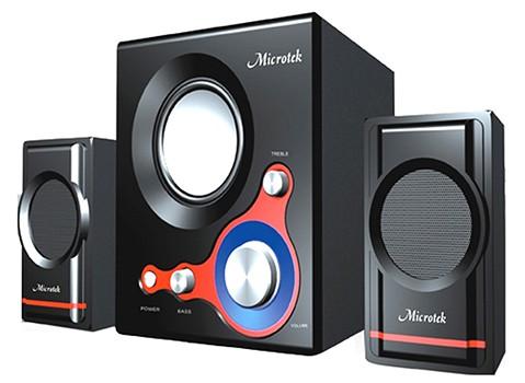 Loa vi tính Microtek cho âm thanh trung thực, thiết kế đẹp, giá cả hợp túi tiền