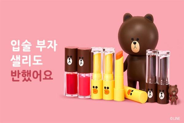 Thiết kế siêu cute của dòng Line Friends Missha