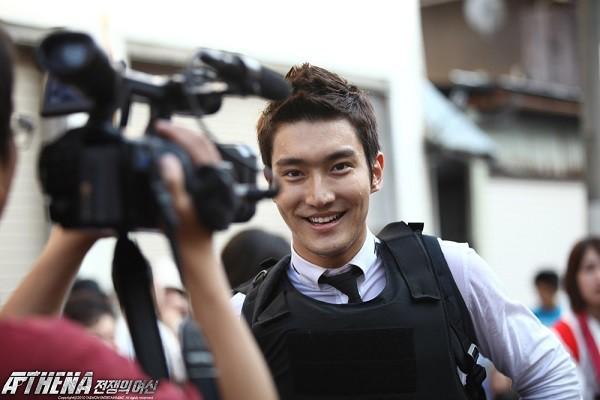 Chàng điệp viên Siwon trong phim Athena