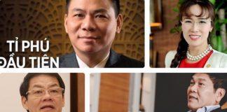 Bảng xếp hạng tỷ phú Việt Nam 2018